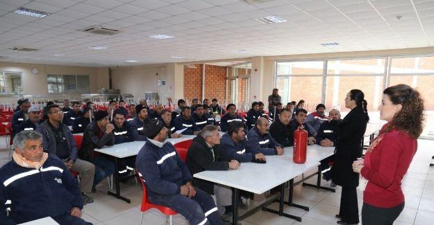 Turgutlu Belediyesi personeline iş güvenliği eğitimi
