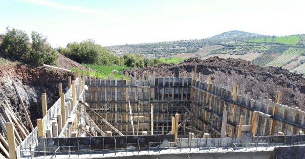 Ayazören'de 200 tonluk su deposu inşaatı başladı