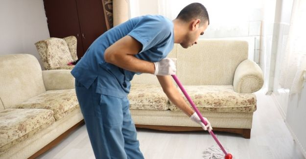 Bayram öncesi engelli ve kimsesizlere özel hizmet