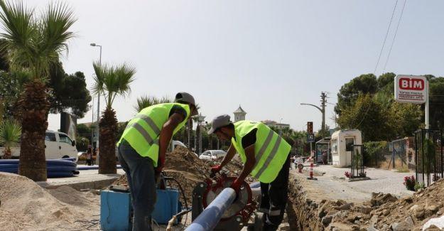 Turgutlu'nun prestij caddelerinde altyapı çalışması