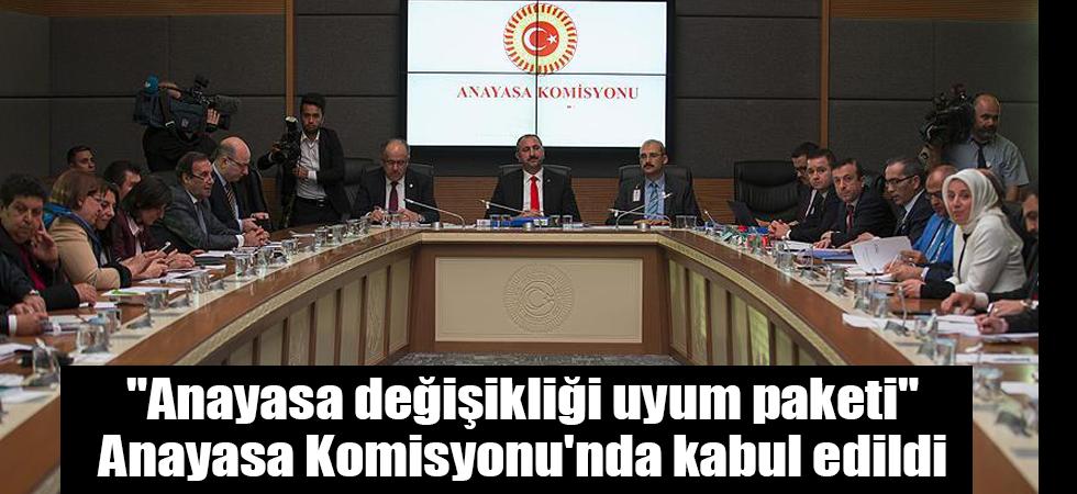 """""""Anayasa değişikliği uyum paketi"""" Anayasa Komisyonu'nda kabul edildi"""