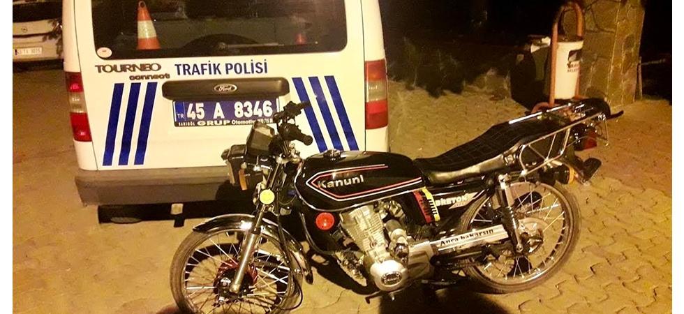 Manisa'da Çalınan Motosiklet Bir Günde Bulundu