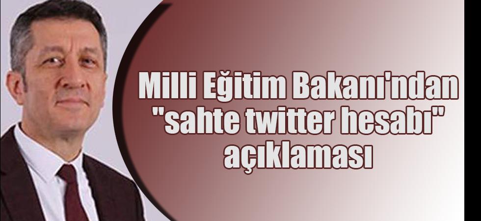"""Milli Eğitim Bakanı'ndan """"sahte twitter hesabı"""" açıklaması"""