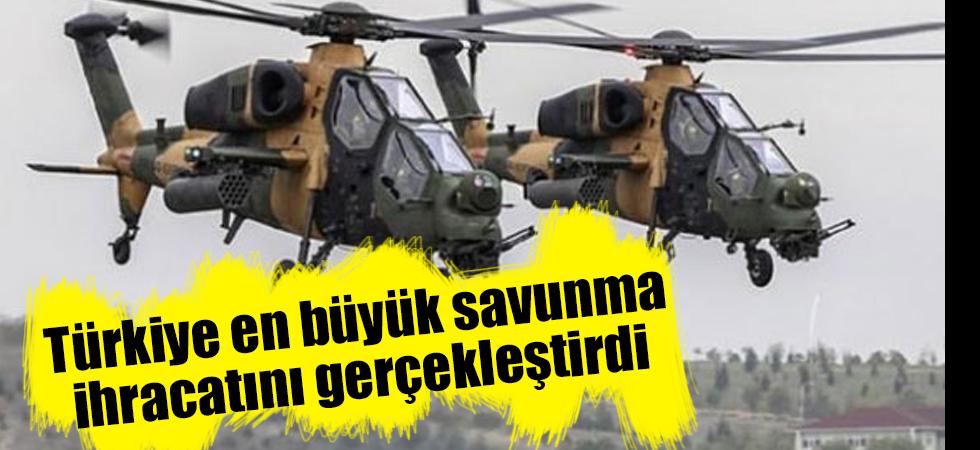 Türkiye en büyük savunma ihracatını gerçekleştirdi