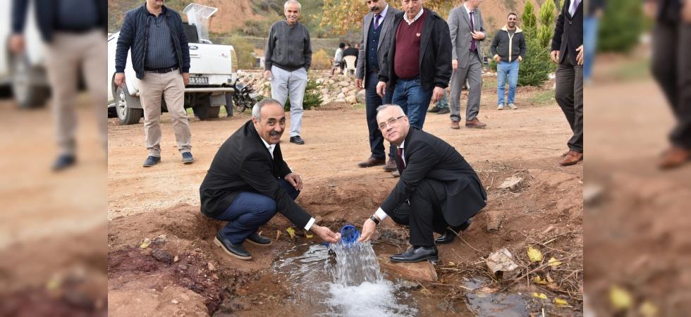 Köseali'de yeni içme suyu evlere verildi