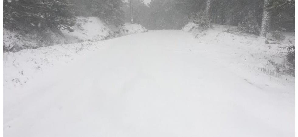 Manisa'nın yüksek kesimlerinde kar yağışı