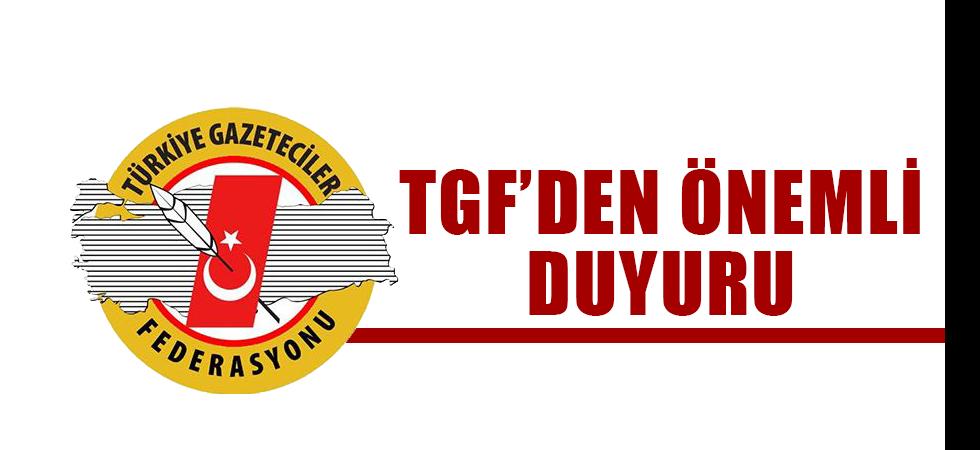 TGF'den Duyuru