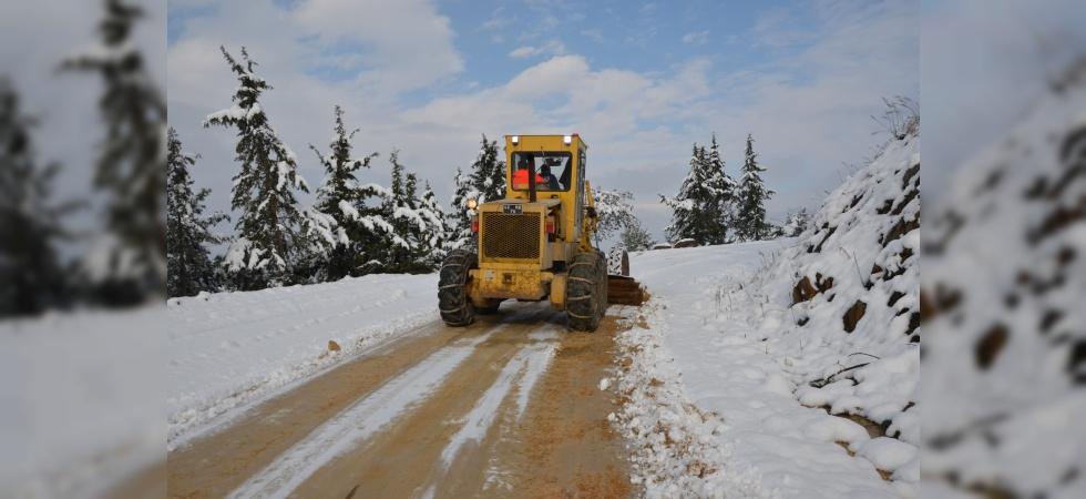 Karla mücadele çalışmaları kesintisiz sürüyor