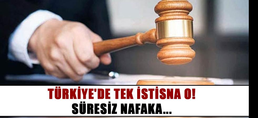 Türkiye'de tek istisna o! Süresiz nafaka...