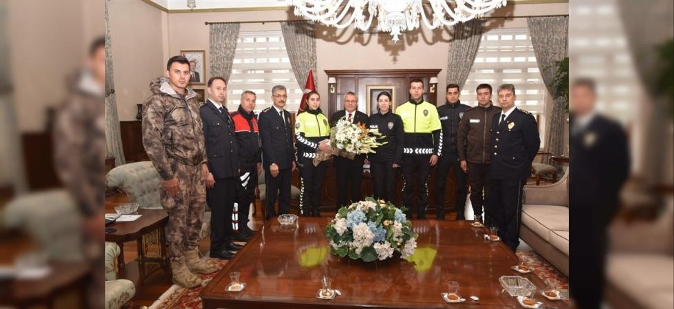 Vali Deniz polis teşkilatını ağırladı
