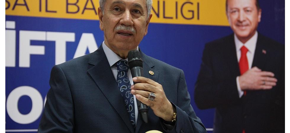 """Arınç: """"(İmamoğlu İçin) Sen PKK'nın Desteğini Reddedecek misin, Yoksa Etmeyecek misin?"""""""