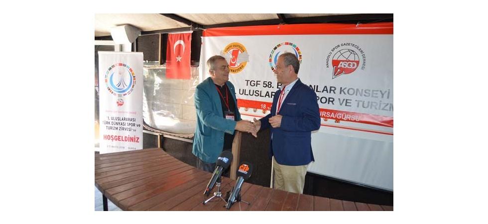 GYD Başkanı İsmail Aydın'dan TGF Başkanı Yılmaz Karaca'ya Anlamlı Hediye