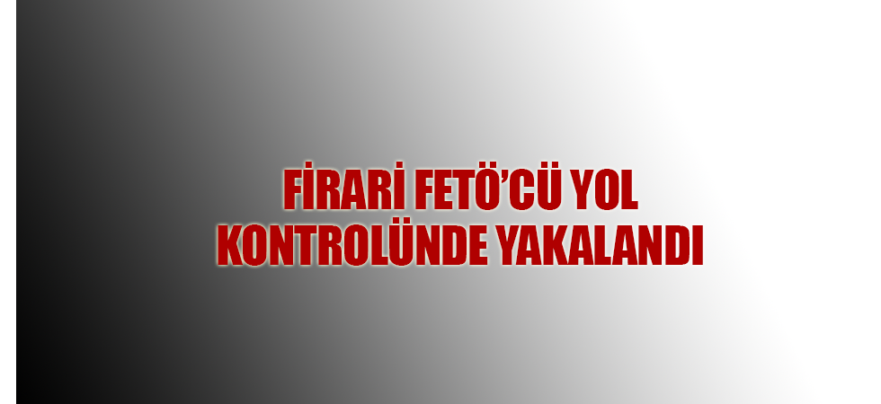Firari FETÖ'cü yol kontrolünde yakalandı