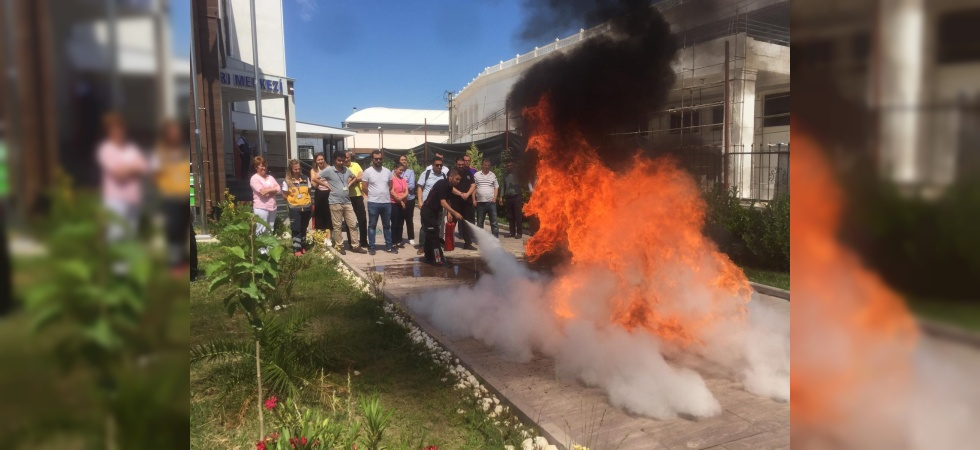 İtfaiyeden 112'ye yangın eğitimi