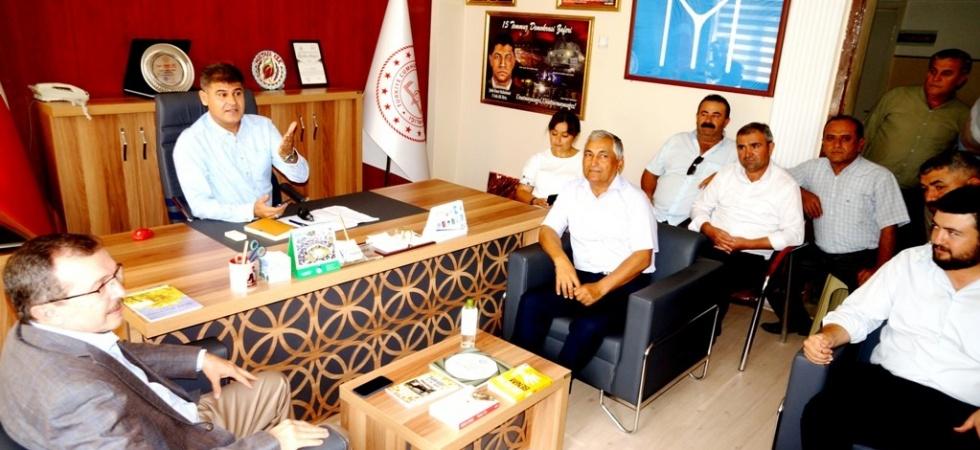 AK Parti'li Aydemir'den Kaymakam Arıkan'a ziyaret