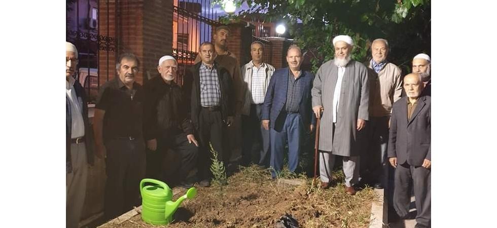Din görevlileri, cami bahçelerine 200 adet fidan dikti