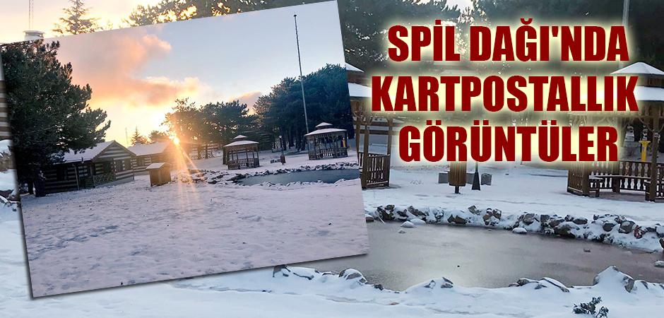 Spil Dağı'nda Kartpostallık Görüntüler Oluştu