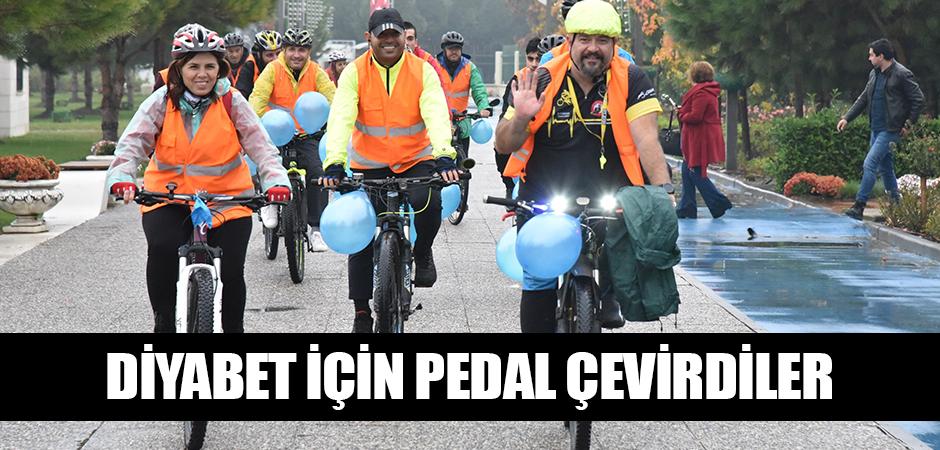 Diyabet için pedal çevirdiler