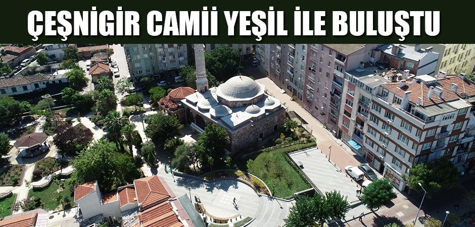 Çeşnigir Camii yeşil ile buluştu