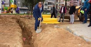 Alaşehir'de doğalgaz için ilk kazma...