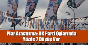 Piar Araştırma: AK Parti Oylarında Yüzde 7 Düşüş Var