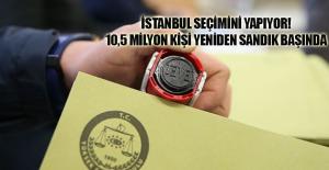 İstanbul seçimini yapıyor! 10,5 milyon kişi yeniden sandık başında