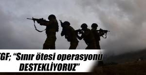 """TGF; """"Sınır ötesi operasyonu destekliyoruz"""""""