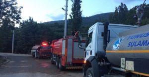 Yunusemre ekipleri de yangın için seferber oldu