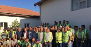 Başkan Kayda, işçilerle bayramlaştı