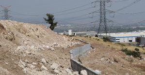 Yunuskent'te istinat duvarları tamamlanıyor