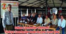 Gebze Gazeteciler Cemiyeti Türkiye Gazeteciler Federasyonu Üyesi Oldu