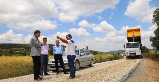 350 Kilometrelik Asfaltlama Çalışması Kula'da Başladı
