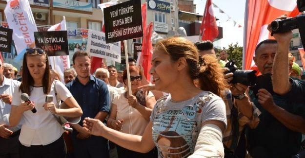 """Bayan Esnaftan CHP'lilere """"Daha Saygılı Miting Yapın"""" Tepkisi"""