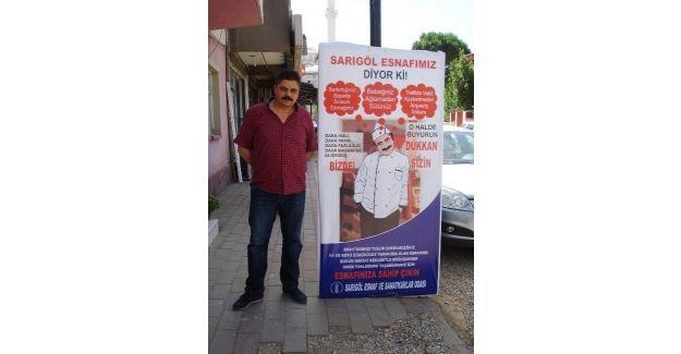 SARIGÖL HALKI ESNAFINA SAHİP ÇIKIYOR..