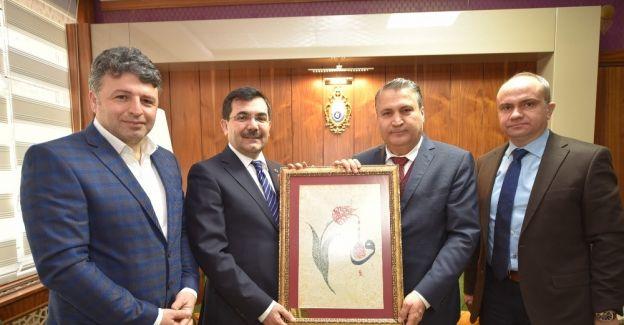 AK Parti'li Salih Koca'dan Başkan Çerçi'ye ziyaret