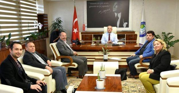 Başkan Kayda Birlik Başkanı Sağlam'ı ağırladı