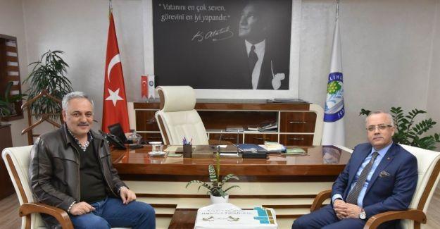 Başkan Öz'den, Başkan Kayda'ya taziye ziyareti