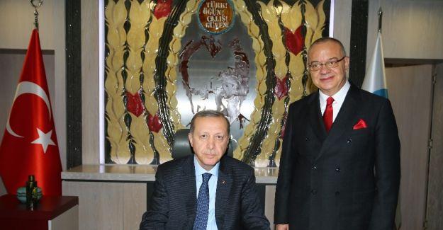 Cumhurbaşkanı Erdoğan MHP'li başkanı ziyaret etti