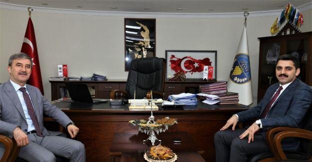 Kaymakam Canpolat'tan Başkan Şirin'e ziyaret