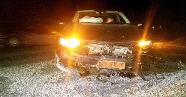 Milletvekilinin makam aracı Manisa'da domuza çarptı