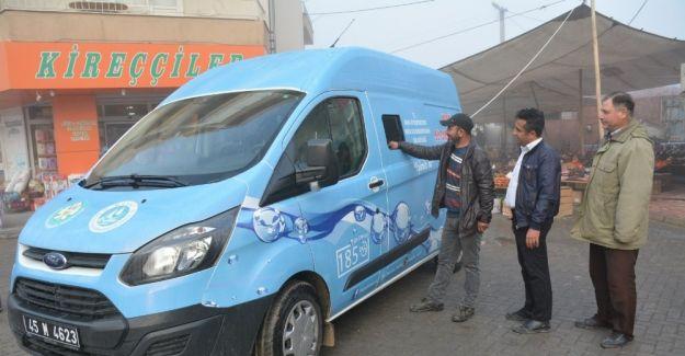 Mobil tahsilat aracı Saruhanlı'da hizmete başladı