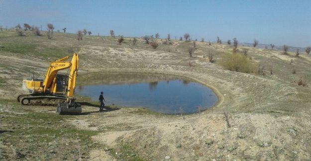 Selendi'nin göletlerinde hummalı çalışma
