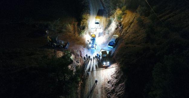 Alaşehir'deki çalışmalar gece gündüz devam ediyor