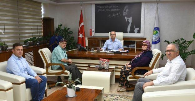 Başkan Kayda, şehit ailesini ağırladı