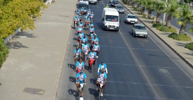 Başkan Şirin 'Büyük Taarruz Bisiklet Turu' gönüllülerini ağırladı