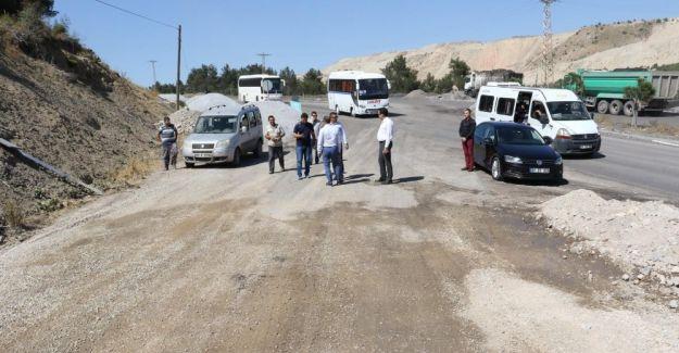 Soma'daki yol yatırımları yerinde incelendi