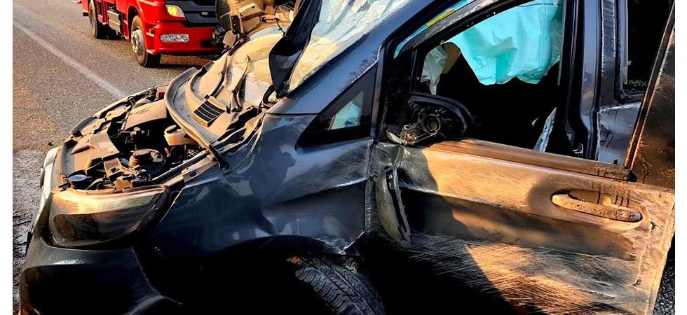 Manisa'da trafik kazası 4 yaralı