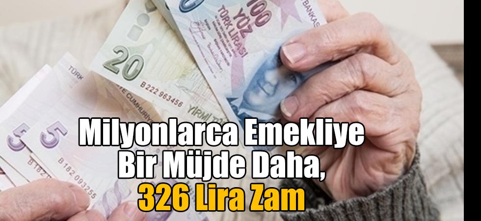 Milyonlarca Emekliye Bir Müjde Daha, 326 Lira Zam