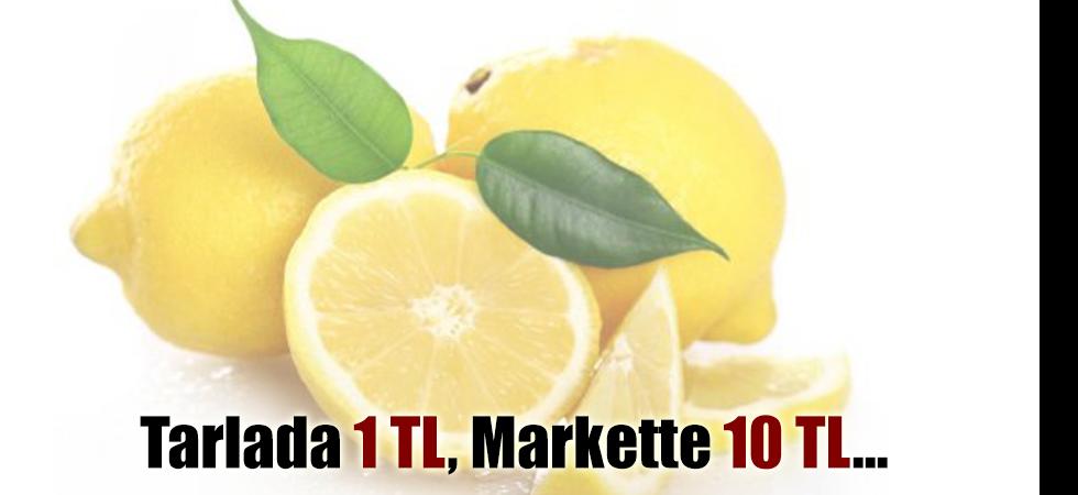 Tarlada 1 TL, Markette 10 TL...
