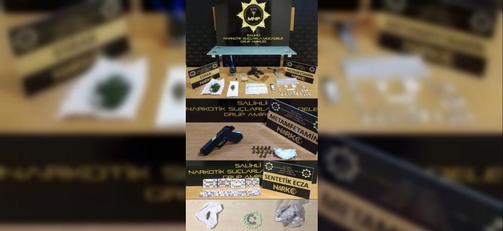 Manisa'da uyuşturucu operasyonunda 6 tutuklama
